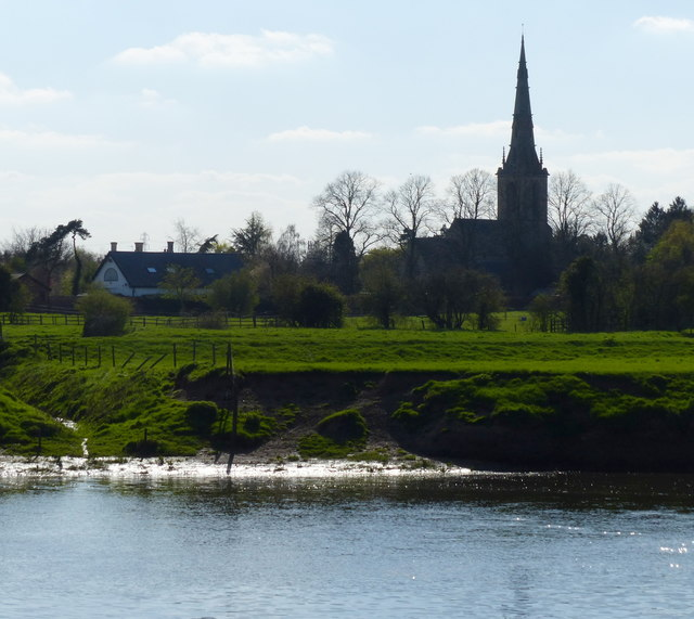 The River Trent and St Mary's church at Carlton-on-Trent