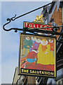 TQ2278 : The Salutation sign by Oast House Archive