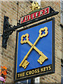 TQ2278 : The Cross Keys sign by Oast House Archive