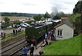 SO7289 : 60163 Tornado locomotive at Eardington Halt by Richard Law