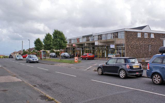 Preston Down Road shops and flats