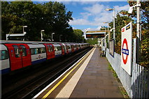 TQ1891 : Canons Park underground station, looking towards Stanmore by Christopher Hilton