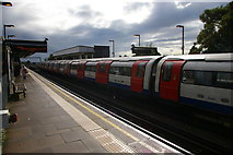 TQ1891 : Canons Park underground station, looking towards London by Christopher Hilton