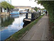 TQ2282 : Water Knight, narrowboat on Paddington Arm, Grand Union Canal by David Hawgood