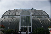 TQ1876 : View of Palm House from the path leading to the House #3 by Robert Lamb