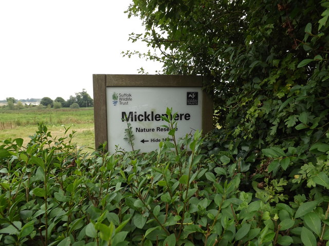 Micklemere Nature Reserve sign