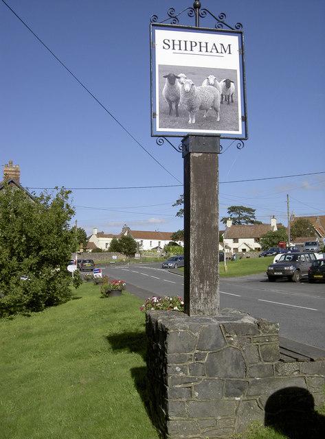 Shipham village sign © Neil Owen cc-by-sa/2.0 :: Geograph Britain