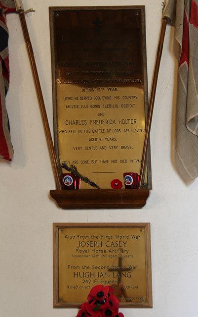 All Saints, West Dean - War memorial WWI & WWII