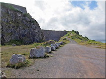 SX9456 : Quarry and road, Berry Head by Richard Dorrell