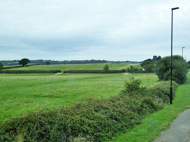 Fields north of North Fairlee Road