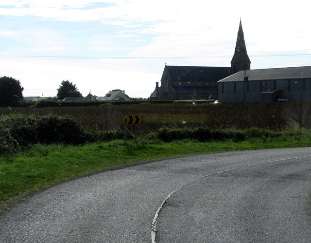 Bend north of the Church of Our Lady Star of the Sea, Boher, Greenore
