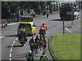 NZ2762 : The leaders in the Great North Run by Graham Robson