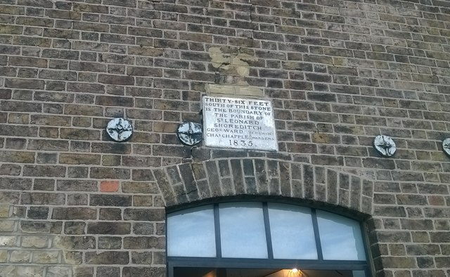 Parish boundary stone, Micawber Street