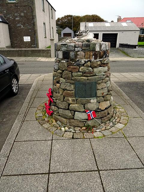 The 'Shetland Bus' memorial, Scalloway