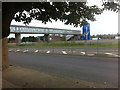 NZ2855 : Washington Services footbridge over the A1 by Darrin Antrobus