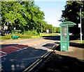 ST2994 : Green bus shelters, Llantarnam Road, Cwmbran by Jaggery