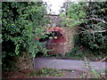 SJ3150 : South side of a former railway bridge, New Broughton by Jaggery