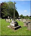 SO5834 : Grade II listed churchyard cross in Fownhope by Jaggery