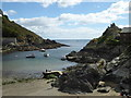 SX2150 : Entrance to Polperro harbour with the tide out by Chris Allen