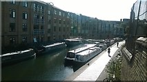 TQ3283 : Regent's Canal at Wharf Road Bridge, looking west by Christopher Hilton