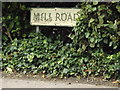 TL8867 : Mill Road sign by Geographer