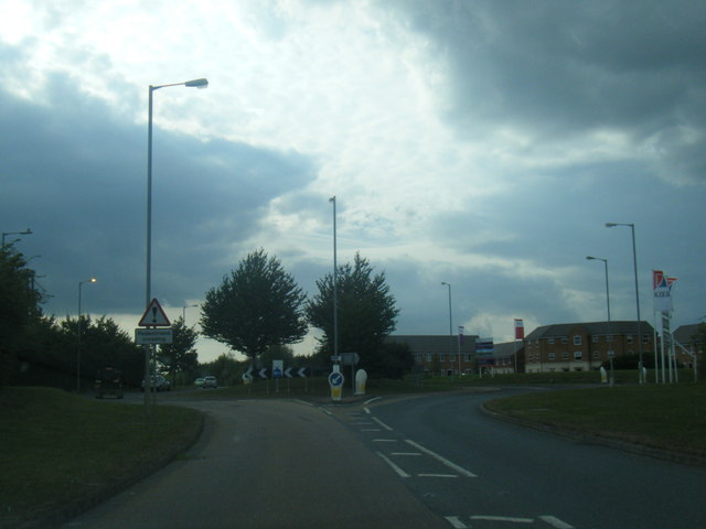 A151 Raymond Mays Way at The Gables roundabout