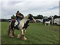SP2970 : Riding bareback in the paddock, Kenilworth Horse Fair by Robin Stott