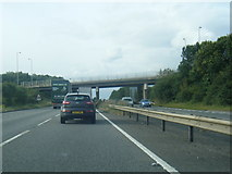 SK8836 : A1 passes under the A52 Barrowby Road by Colin Pyle