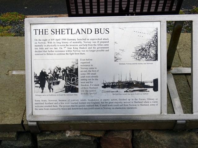 'Shetland Bus' information panel 1