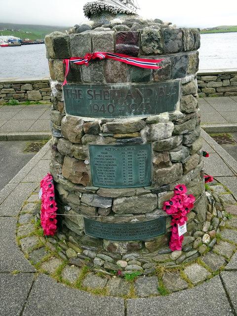 The 'Shetland Bus' memorial - close-up