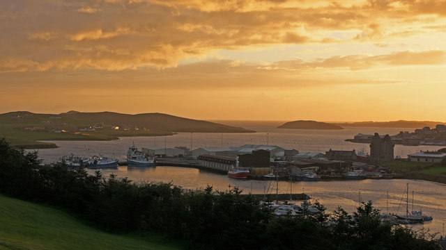 Scalloway from Easterhoull Chalets