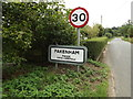 TL9369 : Pakenham Village Name sign on Mill Road by Geographer