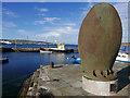 HU4741 : Propeller blade of HMS Oceanic, Hay's Dock, Lerwick by Julian Paren