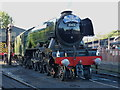SO7192 : The Flying Scotsman waits to run the last service of the day by Richard Law