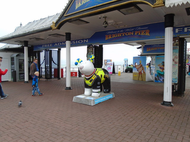 Snowdog #28, Brighton Palace Pier Entrance