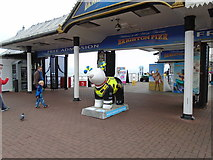 TQ3103 : Snowdog #28, Brighton Palace Pier Entrance by Paul Gillett