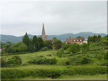 SO7937 : Castlemorton Church and the Malvern Hills by Jeff Gogarty