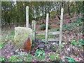 SE0720 : Stile on Elland FP59 entering woodland near Gatehead, Stainland by Humphrey Bolton