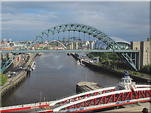 NZ2563 : Tyne bridges, The Baltic and The Sage by Mike Quinn