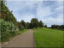 SJ8748 : Festival Park: paths and grassland by Jonathan Hutchins