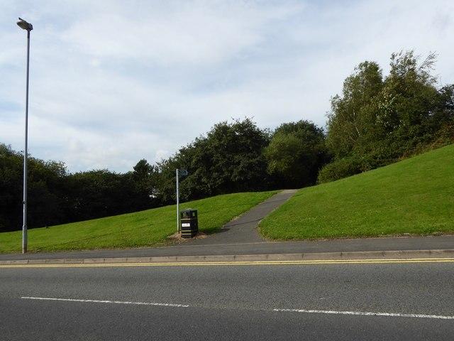 Festival Park: public footpath joins Greyhound Way