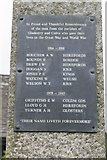 SO2355 : Plaque on the Memorial by Bill Nicholls