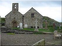 SH1726 : St Hywyn church, Aberdaron by David Purchase