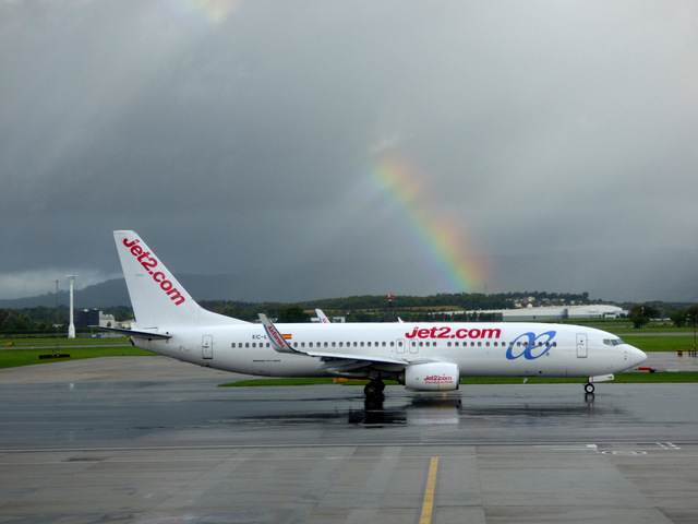 Glasgow Airport rainbow