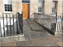 ST7465 : Ordnance Survey Benchmark on the Royal Crescent, Bath by Gary Rogers