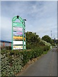 SJ8748 : Festival Heights sign on A53 by Jonathan Hutchins