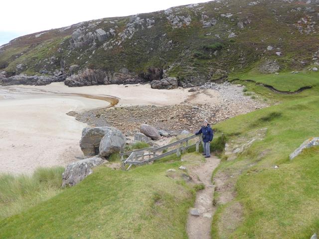 Path down to the magnificent beach of Tràigh Allt Chàilgeag by Oliver Dixon