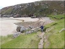 NC4465 : Path down to the magnificent beach of Tràigh Allt Chàilgeag by Oliver Dixon