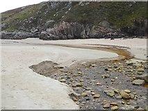 NC4465 : Stream across the beach at Tràigh Allt Chàilgeag by Oliver Dixon