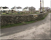 SO8700 : Allotments perimeter wall, Friday Street, Minchinhampton by Jaggery
